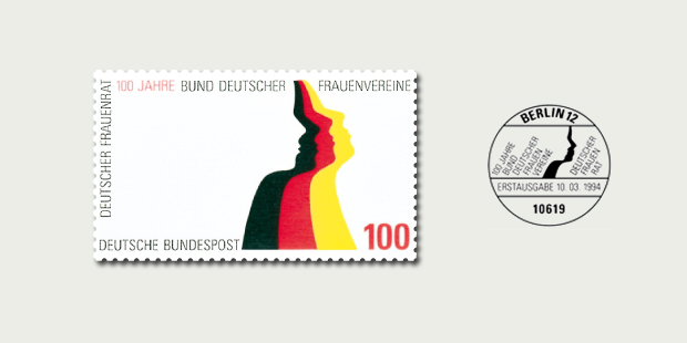 Briefmarkendesign Deutsche Frauenvereine