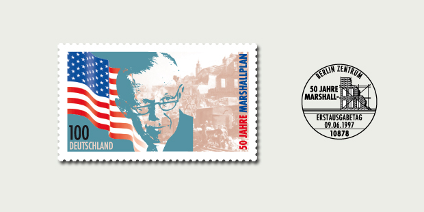 Briefmarkendesign Marshallplan