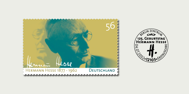 Briefmarkendesign Hermann Hesse