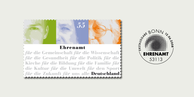 Briefmarkendesign Ehrenamt